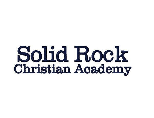Solid Rock Christian Academy Embroidery - PoshBoutiqueInc