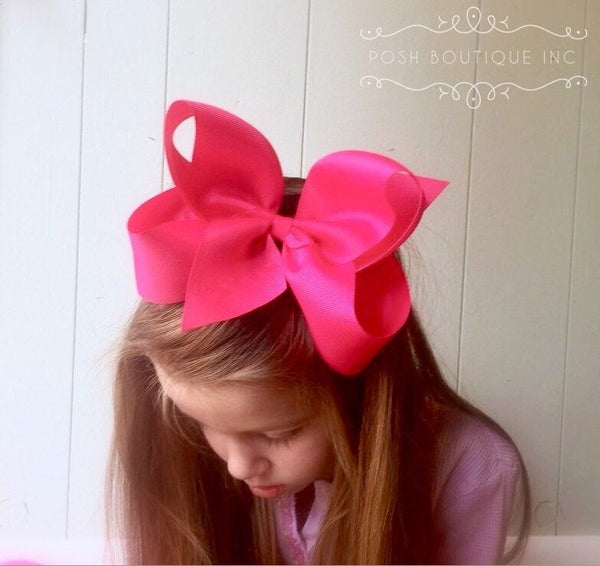 Big hair bow, Hair bow, Headband, Hair bows for girls, Headbands for babies, Toddler hair accessory, Boutique Hair Bows - PoshBoutiqueInc