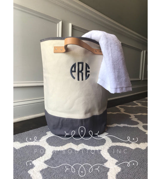 Monogram Laundry Hamper, Laundry Bag, Dorm Laundry Hamper, Graduation Gifts - PoshBoutiqueInc