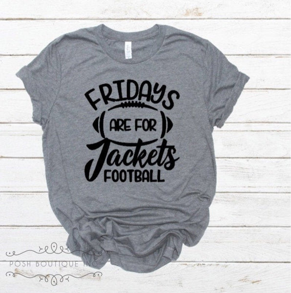 Friday's are for Football Shirt, Custom Football Shirt, Jackets Football Shirt, Custom Football Shirts, Boutique Football Shirt - PoshBoutiqueInc