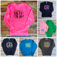 Sweatshirt Sale! Monogrammed Sweatshirts for Ladies and Girls, Custom Sweatshirts, Gifts for Her, Gifts under 20 - PoshBoutiqueInc