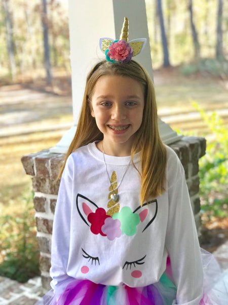 Unicorn Shirt, Girls Unicorn Shirt, Unicorn Tee Shirt, Toddler Unicorn Shirt, Unicorn Birthday Shirt - PoshBoutiqueInc
