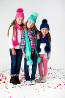 Monogrammed Knit Beanie Hats for Girls, Girls Beanie Hats - PoshBoutiqueInc