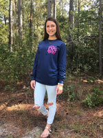Monogrammed Shirts, Long Sleeve Monogrammed Tee Shirt, Gifts for Her, Group Order Discounts, Christmas Gifts, Unisex Long Sleeve Shirt - PoshBoutiqueInc
