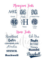 Monogram Long Sleeve Tee shirt - Monogrammed Hair Bow - Girl's - Women's sizes - Monogrammed gifts - Monogrammed T shirts - PoshBoutiqueInc