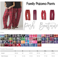 Family Pajama Set, Christmas Pajama Set, Monogrammed Pajama Set, Family Pajamas, Christmas Pajamas, Free Shipping - PoshBoutiqueInc