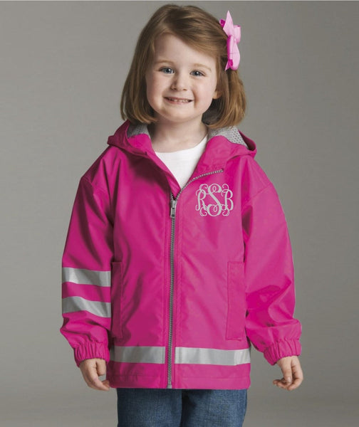 Toddler Rain Jacket - Monogrammed Rain Jackets for Toddlers - Toddler Charles River Rain Jacket - PoshBoutiqueInc