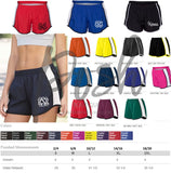 Monogram Running Shorts, Cheer Bow Set Cheer Shorts Monogram Cheer Bow, Monogrammed Running Shorts - PoshBoutiqueInc