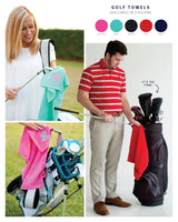 Monogram Golf Towels, Monogrammed Gifts, Groomsmen Gifts, Father's Day Gifts, Monogrammed Gifts for Men, Golf Towels for Her - PoshBoutiqueInc