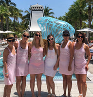 Swimsuit Coverup, Bachelorette Tank Dress, Bridesmaid Swim Cover Ups, Bridesmaid Gifts, Girls trip Coverups - PoshBoutiqueInc