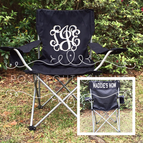 Custom Folding Chair, Monogrammed Chair, Personalized Camp Chair, Groomsman gifts, Custom Chairs, Coaches chair, Game Day Chairs - PoshBoutiqueInc