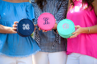 Monogrammed Jewelry Case, Monogrammed Gifts, Monogram Travel Collection, Bridesmaids Gifts - PoshBoutiqueInc