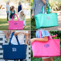 Personalized Ultimate Tote, Oversized Tote Bag, Beach Bag, Teachers Bag, Picnic Basket, Vacation, Multipurpose Tote Bag - PoshBoutiqueInc