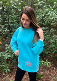 Monogrammed Sweatshirt - Monogram Sweatshirt - Monogrammed Shirt - Monogram Fleece Sweatshirt- Mother Daughter Sweatshirts - Gifts for Her - PoshBoutiqueInc