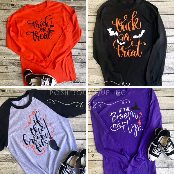 Fall Tee Shirt, Halloween Shirt, Boutique Tee Shirts, Baddest Witch Shirt, Hello Fall shirt, Ladies Fall and Halloween Tee Shirts - PoshBoutiqueInc