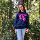 Monogram Sweatshirt, Monogrammed Sweatshirt, Monogrammed Gifts, Crewneck Sweatshirt, Christmas Gifts for her, Mother Daughter Sweatshirts - PoshBoutiqueInc