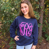 Monogram Pullover Sweatshirt, Personalized Sweatshirts for Ladies and Girls, Sweatshirt Sale, Gifts For Her - PoshBoutiqueInc