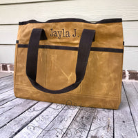 Monogrammed Utility Bag, Personalized Groomsmen Gifts, Tool Bag, Teacher Bags, Group Order Discounts, Gifts for Him - PoshBoutiqueInc