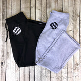 Monogrammed Sweatpants, Personalized Bridesmaid Sweatpants, Monogram Gift for Her, Gifts under 30 - PoshBoutiqueInc