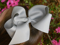 Extra Large Boutique Hair Bow Big Girls Bow Jumbo Huge You choose color Children Baby Toddler Wedding Birthday Holiday Pageant - PoshBoutiqueInc