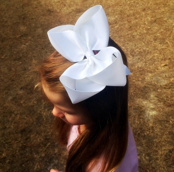 Extra large hair bow, Big hair bow for girls, Baby headband, Toddler hair bow, You choose colors, Hair Clips, Headband, Pony tail holder - PoshBoutiqueInc