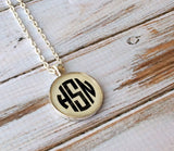 Silver Monogram necklace, Monogrammed gifts, Bridesmaid Gift, Personalized Jewelry, Initial Necklace, Keepsake,  Bridal Party, Weddings - PoshBoutiqueInc