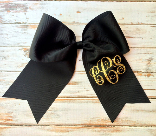 Monogrammed Cheer Bows, Hair Bows, Big Cheer Bow, Monogrammed Gifts for Cheer teams, Softball Hair Bow, Hair bows for girls - PoshBoutiqueInc