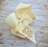 Monogram Hair Bow, Hair Bows for girls, Monogrammed gifts, Big Cheer Bows, Hair Bows for Girls, Boutique Hair Bows, Hair Accessory - PoshBoutiqueInc