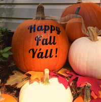 Happy Fall Ya'll Pumpkin Decal, Fall Home Decor for Fall, DIY - PoshBoutiqueInc