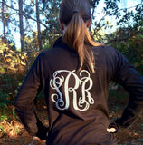Monogrammed Warm up Jacket, Monogram Pullover, Baton, Cheer, Dance, Practice jackets, Full zip, or Quarter zip, Monogram Pullover - PoshBoutiqueInc