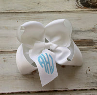Monogrammed Hair Bow, Monogrammed gifts, Big Cheer Bows, Hair Bows for Girls, Boutique Hair Bows, Hair Accessory - PoshBoutiqueInc