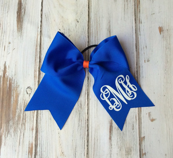Monogram Cheer Bows, Hair Bows, Monogrammed Hair Bow, Big Cheer Bow, Monogrammed Gifts, Cheerleaders Bows, Softball team bows - PoshBoutiqueInc