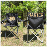 Monogrammed Camp Chair, Custom Folding Chair, Bag Chair, Personalized Folding Chair, Game Day Chair, Tailgate Chair, Camping Chairs - PoshBoutiqueInc