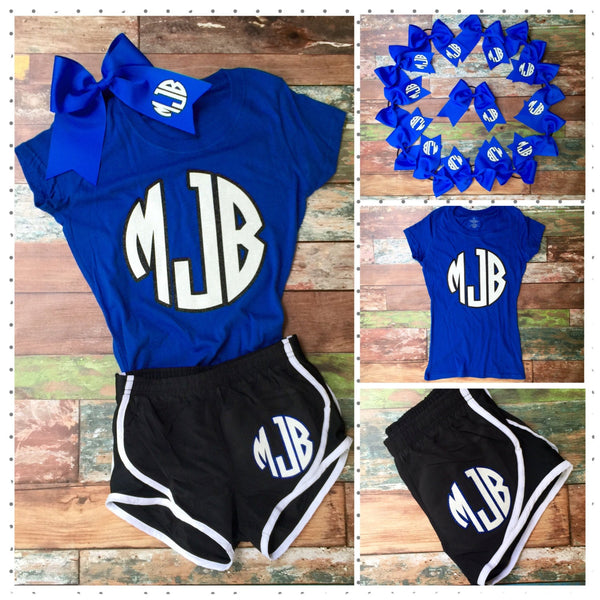 Cheer Team Set, Cheer Shorts, Cheer Bow, Cheer Shirt, Team Order Discounts, Girl's and Women's Sizes - PoshBoutiqueInc