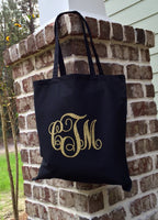 Monogrammed Tote Bags, Bridesmaid Gifts, Personalized Gift Bag, Monogram Tote bag, Personalized Gifts, Monogrammed Gifts - PoshBoutiqueInc