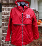 Monogram Rain Jacket - Monogrammed gifts - Charles River New Englander Rain Jacket - Personalized Rain Jacket - Christmas Gifts - PoshBoutiqueInc