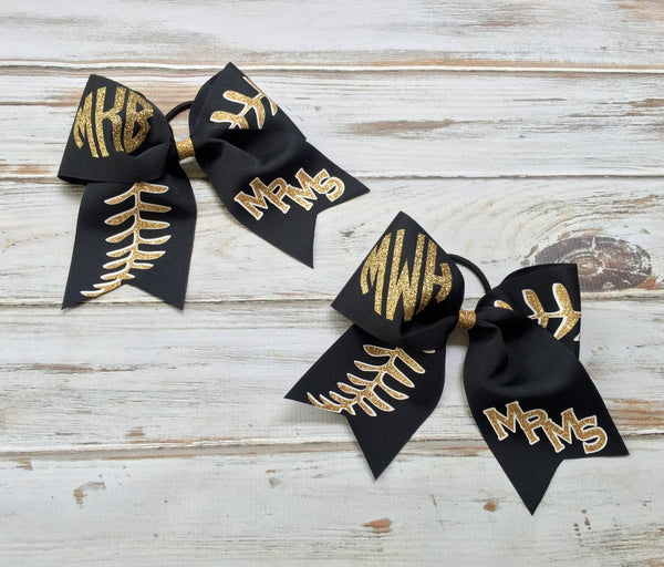 Hair Bows, Cheer Bows, Softball Bows, Monogrammed Cheer Bows, Custom Cheer bow, Cheer Bows, Custom logo cheer bows, TEAM DISCOUNTS - PoshBoutiqueInc