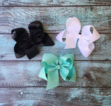 Big Hair Bows, Large Boutique Hair Bow, Big Girls Hair bows, Custom Hair Bows, Bulk Discounts, Pick your Colors, Hair Bow for Girls - PoshBoutiqueInc