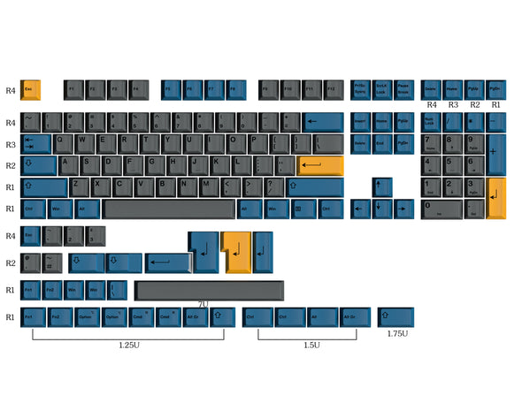 HK Gaming Dye Sublimation | Cherry Profile | Thick PBT Keysets (139 Keys)