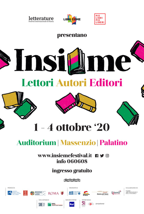 "SimeBooks will be in Rome at ""Insieme - readers, authors, editors"" from 1 - 4 October '20"