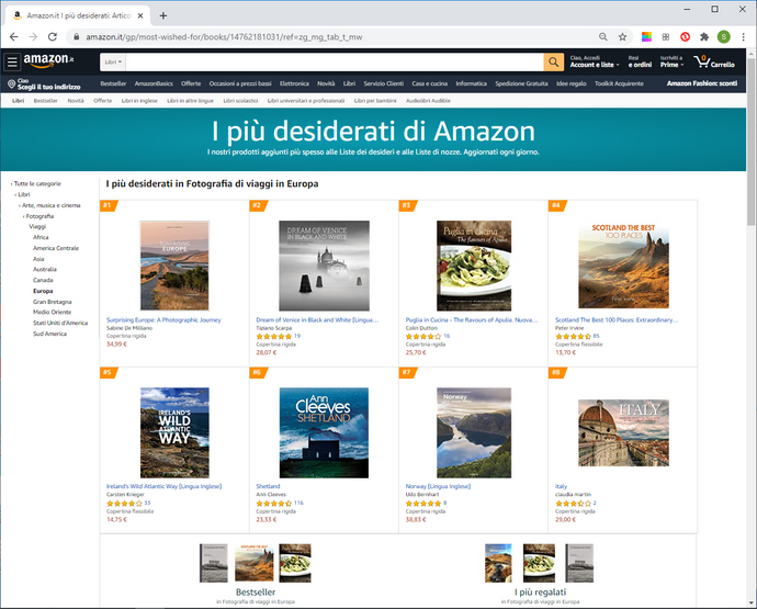 #Pugliaincucina top on Amazon on 5 August 2020