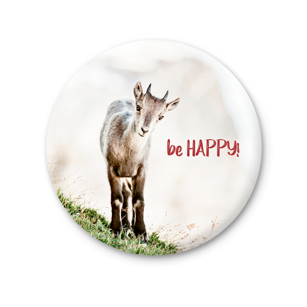 Round Magnet - Be Happy!