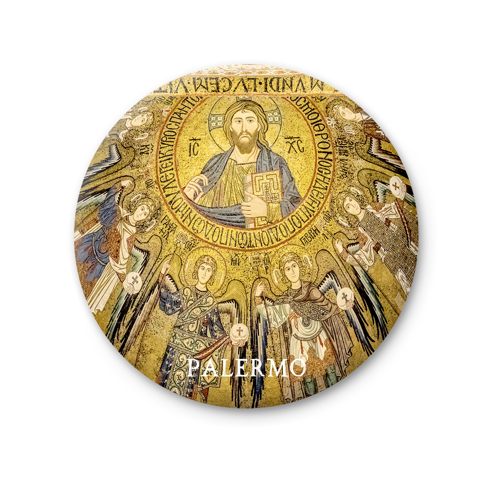Round Magnet - Palermo, Palatine Chapel of Christ