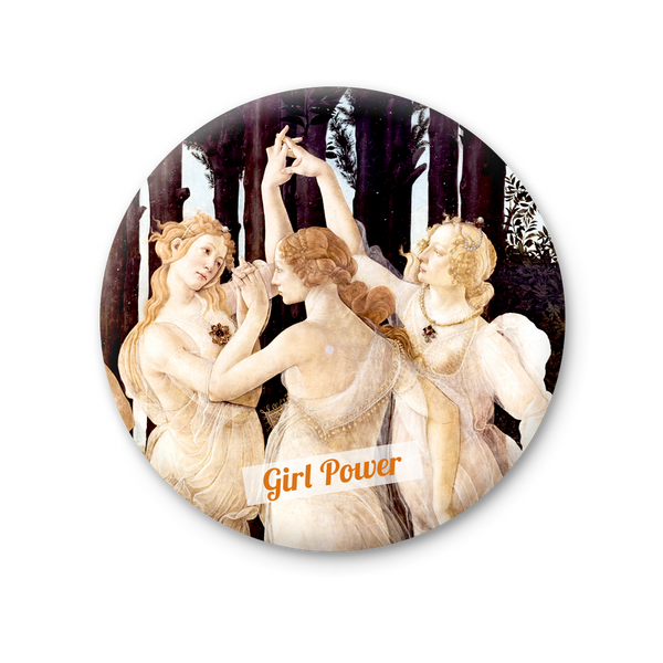 Round Magnet - Florence, Girl power