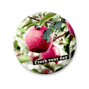 Round Magnet - Fresh your day, apples