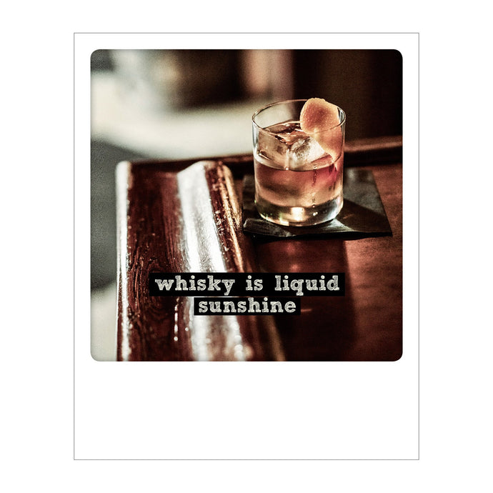Polaroid Postcard, Sime © Giovanni Simeone / Whisky is liquid sunshine