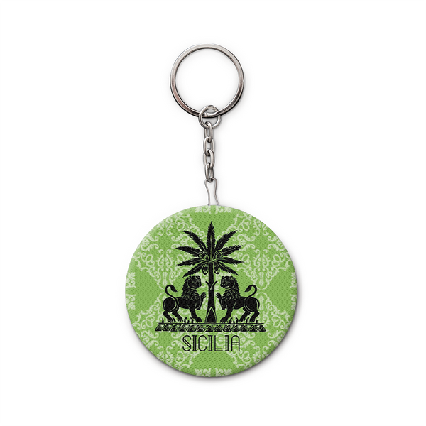 Keychain and Bottle Opener, Green Royal Lions