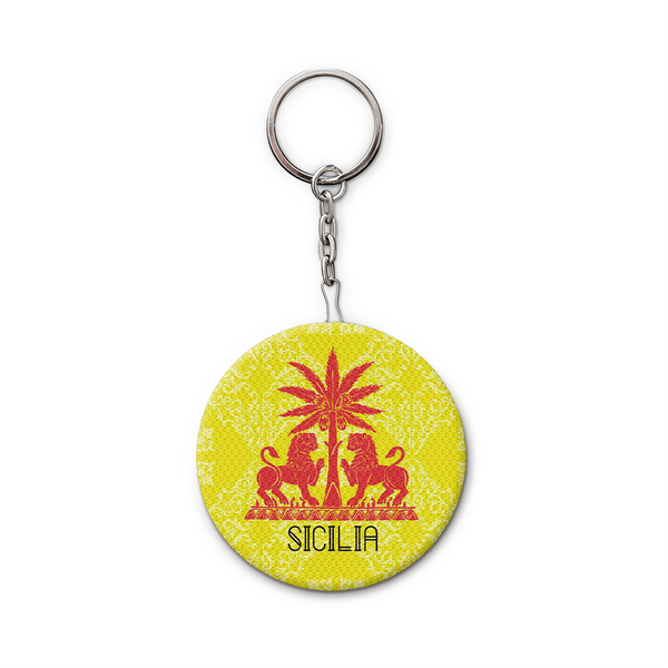 Keychain and Bottle Opener, Yellow Royal Lions