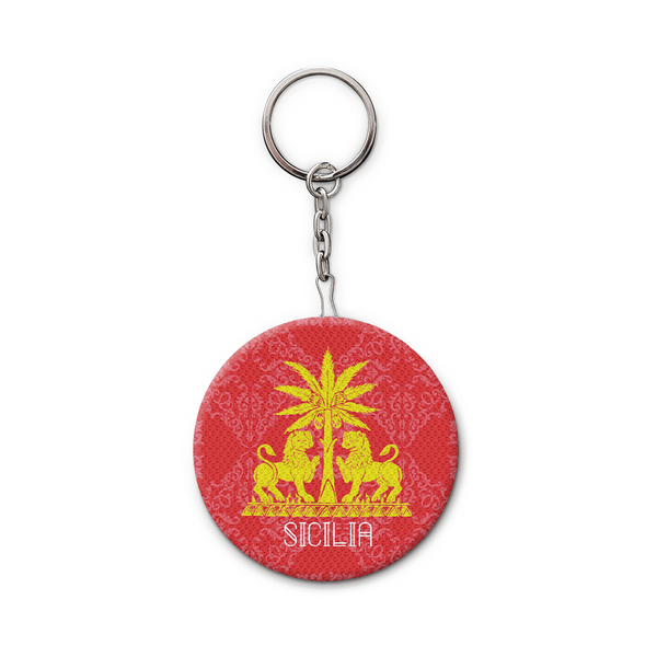 Keychain and Bottle Opener, Sicily, Red Royal Lions