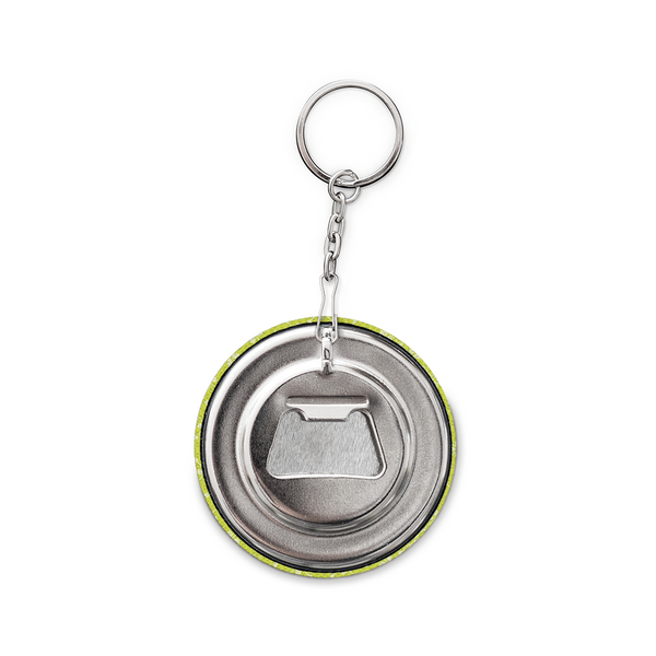 Keychain and Bottle Opener, Yellow Mora